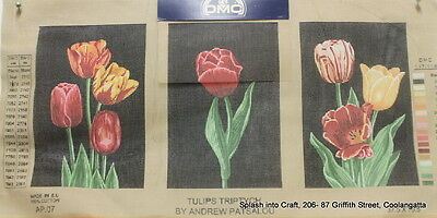 Tapestry Canvas - Clearance - Dmc - Tulips Triptych- Canvas To Be Stitched