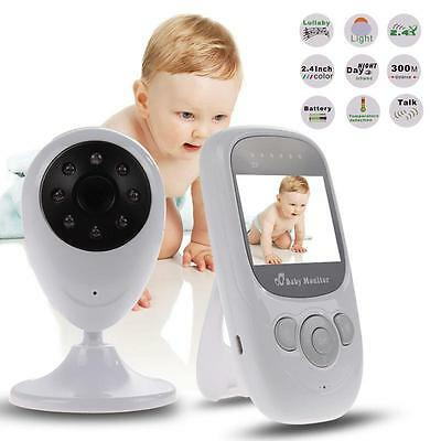 Wireless 2.4GHz Digital Color LCD Baby Monitor Camera Night Vision Audio Video R
