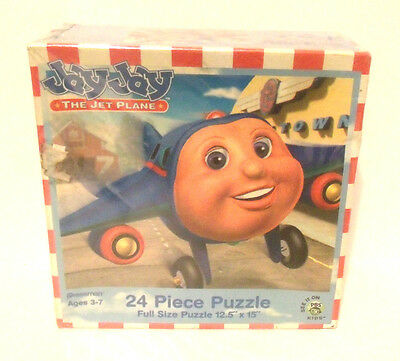 Jay Jay The Jet Plane 24pc Puzzle PBS KIDS Pressman Ages 3-7 Factory Sealed 2002