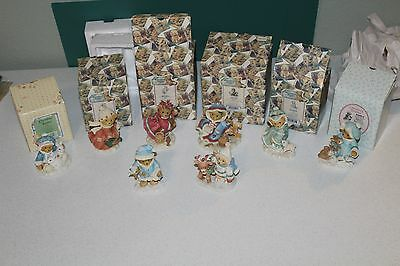 Cherished Teddies Christmas Girls Winter Collection 8 Figurines Lot In Boxes