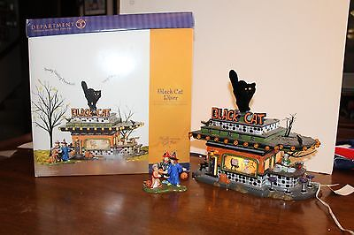 Department 56 Black Cat Diner Halloween Gift Set With Lights In Original Box