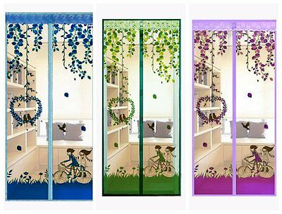 Mesh Insect Fly Bug Mosquito Door Curtain Net Netting Mesh Screen Magnets