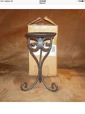 Longaberger Wrought Iron Medium Pillar Candle Holder - NIB
