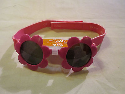 Baby Girl Goggles Baby Sunglasses Elastic Band Pink NWT