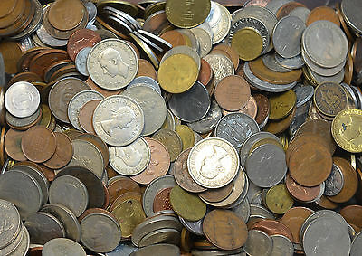 2 Full Pounds Lbs Two LBs Lot of Unsearched World Foreign Coins * More Available