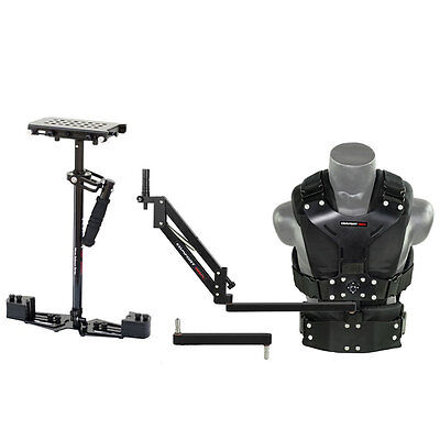 Flycam HD-5000 Stabilizer w Comfort Arm Vest FREE Quick Release & Table Clamp