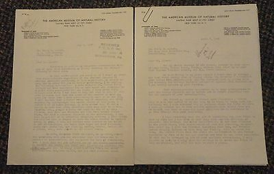 1947 New York American Museum Of Natural History E Thomas Gilliard letterheads