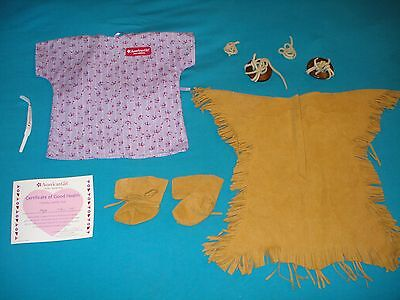 Lot clothes accessories for American Girl doll Kaya; dress, hair ties+++All EUC!