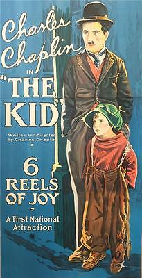 Charlie Chaplin The Kid 3 Sheet Vintage Movie Poster Lithograph Hand Pulled S2