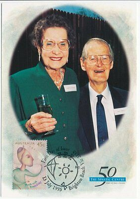 "People with Disabilities ""Spastic Centre Founders"" - Maxi Card Maximum Card 1995"