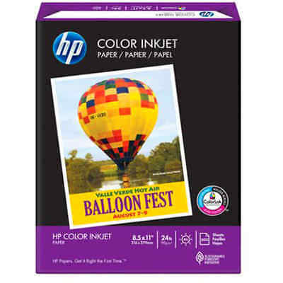 HP Color Inkjet Paper, 500 Sheets White Sheets/ream Hewlettpackard Letter By HP