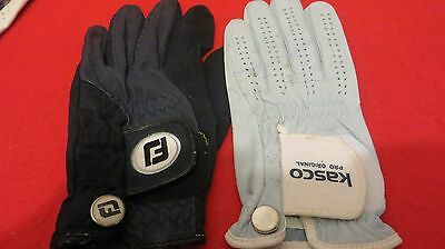 2 x Womens Left Handed Golf Glove (Footjoy and  Kasco Pro Original - Size Medium