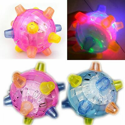 LED Lamp Flashlight Bouncing Bumble Ball Music Dancing Toy Perfect Gift For Kids