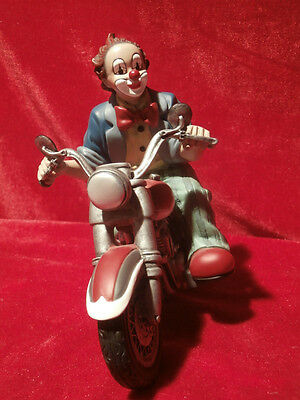 Gilde Clown Comedy Collection Clown auf Motorrad Höhe: ca. 15,5 cm