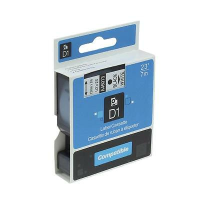 Compatible for DYMO A45013 D1 Office Cassette Label Tape Black on White 12 mm