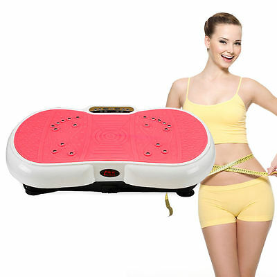 Fitness Machine Massager Vibration Plate Exercise Slim Body Shape Home Gym 200W