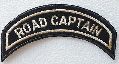 Harley Davidson Officer Patch Hog – Road Captain - Made In Chenille Gold Letters
