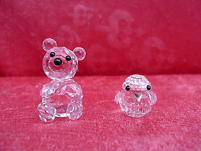 2 beautiful Swarovski figurines__Bear and Bird_
