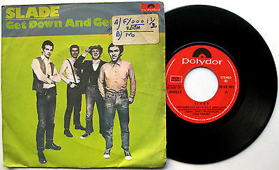 """SLADE Get Down And Get With It - 7"""" 45 Polydor 1971 Glam Rock Spain Spanish"""