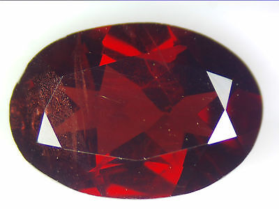 3.16 Ct Natural Red Pyrope Garnet Loose Gemstones Oval Faceted Cut 10.9 X 7.6 Mm