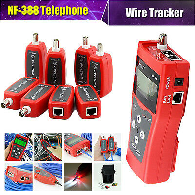 Professional NF-388 Network Cable Tester Tracker Tracer Test Ethernet w/8 Remote