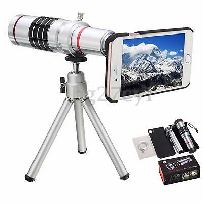 18X Optical Zoom Telescope Camera Lens Kit Tripod Stand +Case Cover For iPhone 7