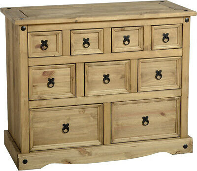 Corona 4+3+2 Drawer Merchant Chest Distressed Waxed Pine