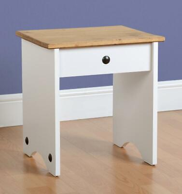 Corona Dressing Table Stool Painted White