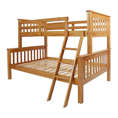 Neptune Triple Sleeper Bunk Bed White, Antique Pine