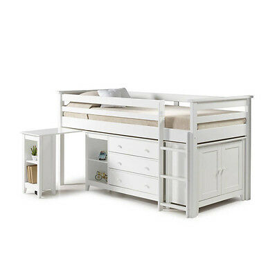 Cotswold Midi Sleeper Bed Antique Pine 2, White 2, Antique Pine, White