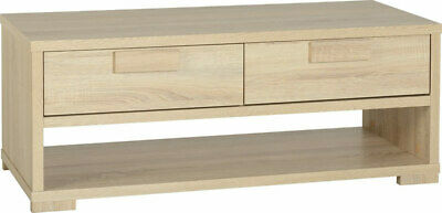 Cambourne 2 Drawer Coffee Table Light Sonoma Oak