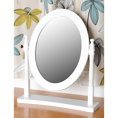 Contessa Dressing Table Mirror White Antique Pine Make up Bedroom Furniture