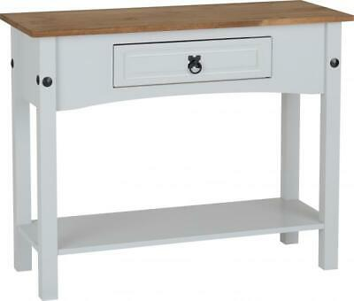 Corona 1 Drawer Console Table With Shelf Painted Grey
