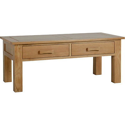 Stratford 2 Drawer Coffee Table Solid Oak