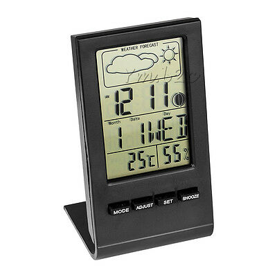 Humidity Hygrometer Digital Thermometer With LCD Display Alarm Clock Calendar
