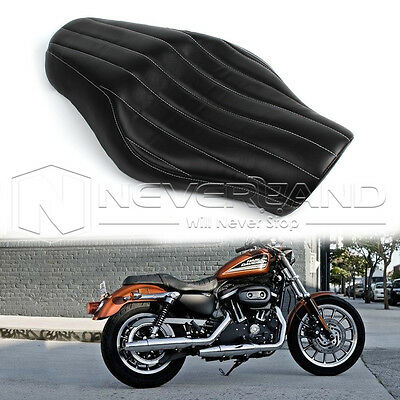 Driver Passenger Tour Seat For Harley Sportster XL 883 1200 Iron X48 Black