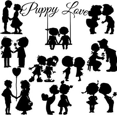 Die Cut Out Silhouette Couples x 10 Romance, Valentines, Weddings, Engagement