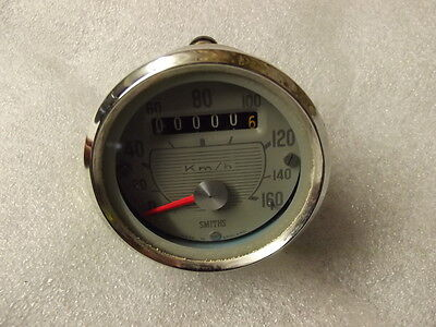 Smiths 0-160Kph Grey Faced Speedometer, May Fit Bsa C15 B40 T20B Ajs 60Mm Dia 1