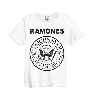Ramones 'Logo' T-Shirt (White) - Amplified Clothing - NEW & OFFICIAL!