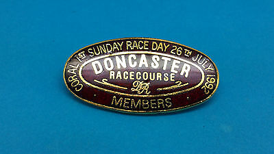 Doncaster Horse Racing Members First Sunday Race Day Badge 1992