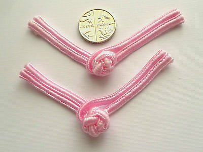 4 Pairs Small Pink Frog Fasteners 80 mm
