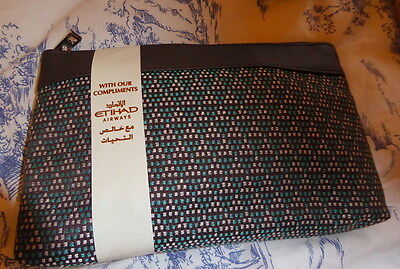 Etihad airways First class amenity  bag with contents -unopened
