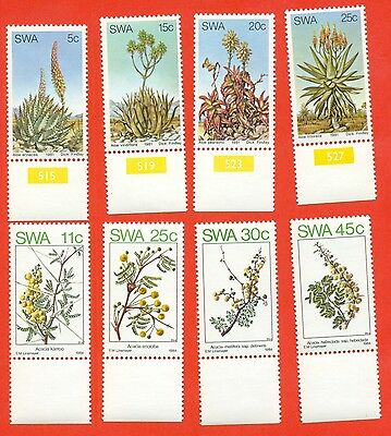 SWA 1981 and 1984. Desert flowers. Lot of two series. new!!!