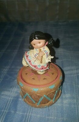 Friends of a Feather Enseco Native American Trinket Boxes signed Karen Hahn 227