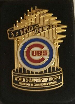 CHICAGO CUBS 2016 WORLD SERIES CHAMPIONS TROPHY Lapel Pin