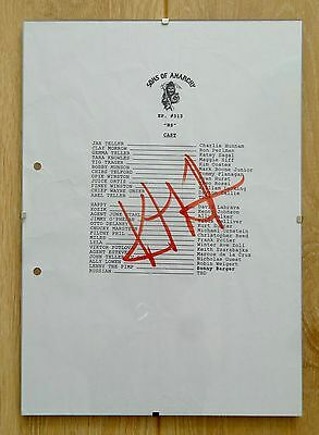 *VERY RARE* Kurt Sutter SIGNED Sons Of Anarchy Cast Script Page!
