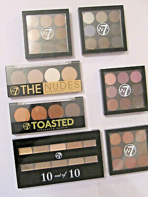 W7 Eyeshadow Palette - Assorted Mattes, Nudes, Toast & Shimmer Shades - New