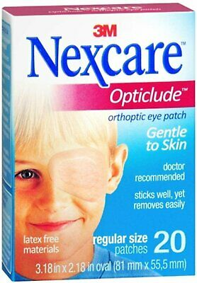 Nexcare Opticlude Orthoptic Eye Patch Regular Size - 20 Count (Pack of 3)