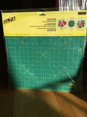 "Olfa Spinning Rotary Mat 17"" Square *New in Package* Drawing Sewing Cooking"