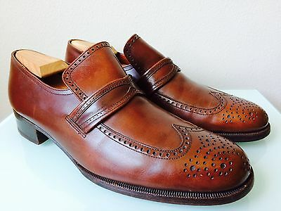 "Vintage Men's Bally Brown Leather ""Moulins"" Shoes size 10"